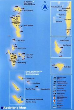 Best Scuba Diving in Thailand with All4Diving - Similan Islands dive sites map