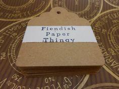 Medium Kraft Paper Tags Kraft Tags Wedding  by FiendishPaperThingy, $4.50