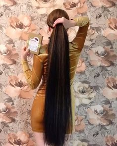 Long Hair Ponytail, Ponytail Hairstyles, Down Hairstyles, Natural Hairstyles, Long Brunette, Really Long Hair, Rapunzel Hair, Long Natural Hair, Hair Brained