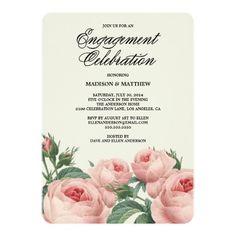 Botanical Glamour | Engagement Party Invitation