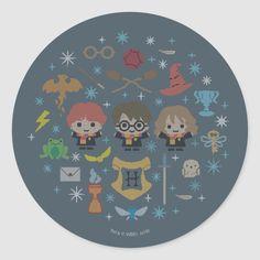 Harry Potter Cross Stitch Pattern, Counted Cross Stitch Patterns, Cross Stitch Embroidery, Embroidery Patterns, Small Cross Stitch, Cute Cross Stitch, Chapeau Harry Potter, Diy Crafts For Boyfriend, Hogwarts Crest
