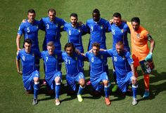 Italy pose for a team photo prior to the 2014 FIFA World Cup Brazil Group D match between Italy and Costa Rica at Arena Pernambuco on June 2...