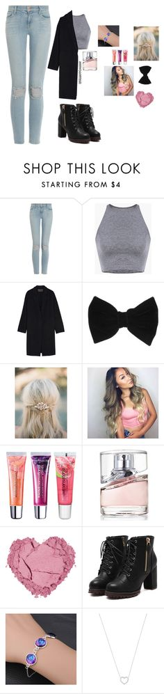 """Untitled #18"" by ruthmary-hemnes on Polyvore featuring J Brand, Donna Karan, claire's, Maybelline, HUGO, Tiffany & Co., women's clothing, women, female and woman"