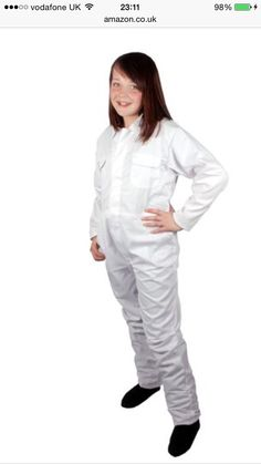White overalls, Amazon