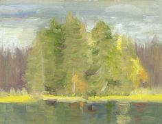 Trees By Lake Eriksrud — Rob Tijink