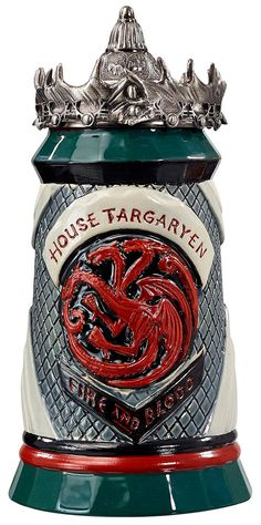 Game of Thrones House Targaryen Stein - 22 Oz Ceramic Base with Pewter Baratheon | Collectibles, Fantasy, Mythical & Magic, Other Fantasy Collectibles | eBay!