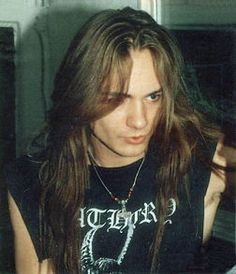 """Tomas """"Ace"""" Forsberg (1966-2004) was the frontman and creative force behind the influential Swedish band Bathory.  And also hot."""