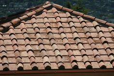 Picturesque Tile Roof Paint Clay Tiles Material Board Antique