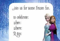 Free Frozen invitation printable
