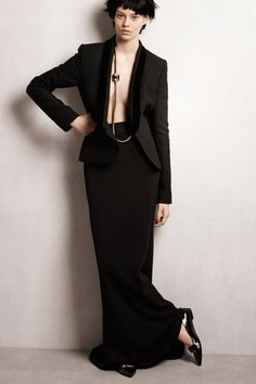 Lanvin Pre-Fall 2014 Collection Slideshow on Style.com  streamlined all black  maxi skirt mermaid skirt