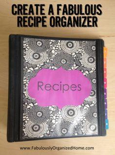 {the weekend organizer} create a tried-and-true recipes organizer