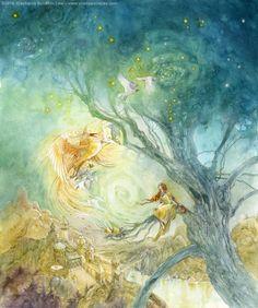 Stephanie Pui-Mun Law - Shadowscapes.  Galleries : Creatures : Greeting the Dawn