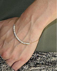 silver chip bracelet