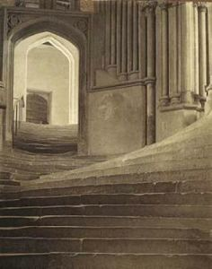 A Sea of Steps - Wells Cathedral: Stairs to the Chapter House  - 1903 photo. Frederick Evans