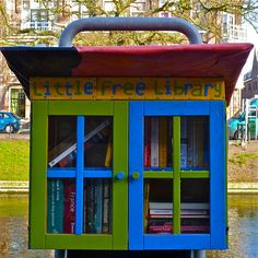 Little Free Library. Take a book and leave a book. I saw these on the news tonight. They were started near here in Hudson Wisconsin . Way to many to pin, I'll have to choose top faves C.