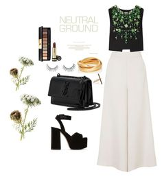 """Untitled #37"" by nadasalemx ❤ liked on Polyvore featuring Topshop, Miu Miu, Yves Saint Laurent, Sidney Garber, Ileana Makri, Unicorn Lashes and Gucci"