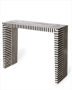 master bedroom 4/ INDIAN STRIPED INLAID BONE CONSOLE FROM LIZA SHERMAN