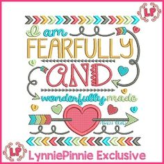 Fearfully and Wonderfully Made Tribal Applique - 4 Sizes | What's New | Machine Embroidery Designs | SWAKembroidery.com Lynnie Pinnie