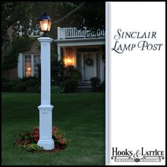 Sinclair Lamp Post with Aluminum Ground Mount- White $149.99