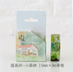 1.5CM My Little Forest House Washi Tape Adhesive Tape DIY Scrapbooking Sticker Label Masking Tape