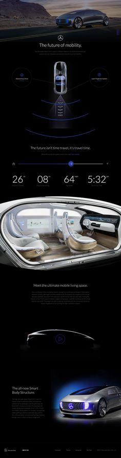 Mercedes-Benz F 015 Concept Ui Ux Design, Interface Design, Site Design, Web Layout, Layout Design, Car Ui, Branding Services, Ui Web, Mobile Design