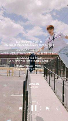 J Pop, Wallpaper Iphone Quotes Songs, Music Wallpaper, Song Lyric Quotes, Lyrics, Limitless Quotes, Nct 127 Limitless, Phone Themes, Korean Quotes