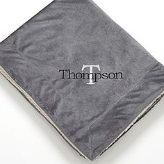 Personalize your home with this decorative Personalized Grey Sherpa Blankets - Initially Yours. Find the best personalized entertaining and home gifts at PersonalizationMall.com