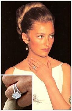 Queen Paola of the Belgians Engagement Ring and Wedding Band.