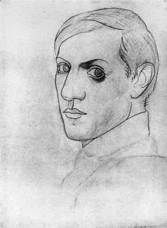 Self-portrait in 1917 by Pablo Picasso