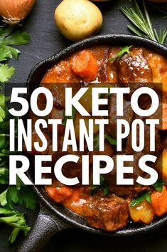 50 Keto Instant Pot Recipes for Weight Loss | Looking low carb, high fat keto diet recipes you can make in your instant pot? From chicken, beef, pork chops, and seafood options to gluten-free and vegetarian ideas, we're sharing 50 easy ketogenic diet meals to teach you how your electric pressure cooker can support your weight loss goals. #keto #ketogenic #ketosis #ketodiet #ketogenicdiet #ketorecipes #ketoinstantpotrecipes #ketocrockpotrecipes #ketoslowcookerrecipes #weightloss