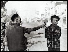 A shocking moment when this man executed as it was believed that he was a spy for the Viet Cong