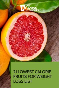 21 Lowest Calorie Fruits For Weight Loss List.  These 21 lowest calorie fruits will help you choose the fruit with the least calories so you can still get all the nutrients you need while you drop the fat. High Protein Smoothies, Green Smoothie Recipes, Fruit Smoothies, Low Calorie Fruits, Healthy Fruits, Health And Fitness Tips, Health Tips, Fruit Facts
