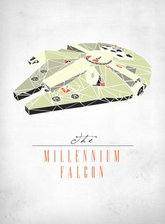 The Millennium Falcon Art Print // WANT!! I can't tell you how how happy this makes me @Juliette Genteman!!
