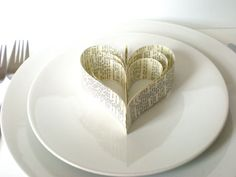 Wedding table decoration paper hearts Shakespeare by jujucards, £8.50