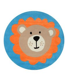 Loving this Blue Leo the Lion Rug on #zulily! #zulilyfinds. home decor, print, design, decor, style, modern, home, house, contemporary, trends, interior design.