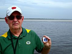 Duane near Manaus, Brazil, where the Rio Negro and Rio Solimoes meet to form the great Amazon River, which flows 4,000 miles. You can literally see the line of color difference where the two waters meet but don't yet mix.