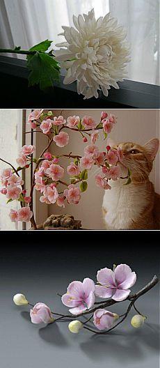 Холодный фарфор мастер класс или цветы из холодного фарфора   ibud.ua