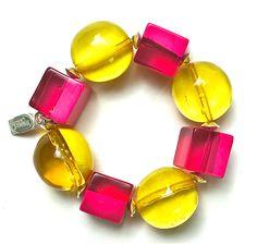 Bracelet Bicolore Jaune et Rose.