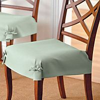 Lovely Fitted Dining Room Chair Covers | Dining Room Chair Seat Covers Just Tie  These Pretty Dobby Dining Room .