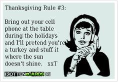 Thanksgiving Rule #3: | Cookin' Up A Party