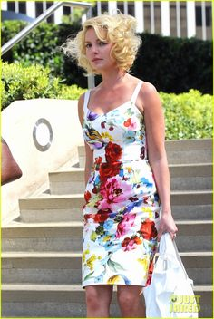Katherine Heigl grins from ear to ear in a fantastic floral sundress as she heads home on Tuesday (May 15) in Los Feliz, Calif.
