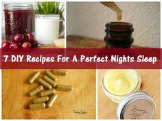 7 #DIY Recipes For A Perfect Nights Sleep #remedies #health