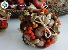 Tvoříte rádi nejrůznější dekorac e znasbíranýmpokladů podzimní přírody? Vyrobte si podle návodu originálnípodzimní dekorace - koule z přírodnin, které vypadají hezky, jsou-li naaranžované ve velké míse nebo na kulatém podnose. Můžete je opatřit také ouškem k…