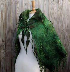 Custom Handmade green cape-Made to order Wild Moss by folkowl