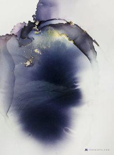 Abstract Art, Watercolor, Textiles by Marta Spendowska
