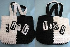 Donna's Crochet Designs Blog of Free Patterns: Ying Yang & Cup Cake Word Tote Crochet Patterns