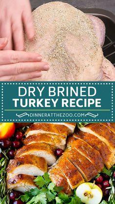 Lunch Recipes, Dinner Recipes, Cooking Recipes, Healthy Recipes, Dry Brine Turkey, Brine Recipe, Holiday Dinner, Chicken Recipes, Recipes For Turkey