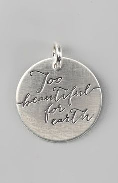 Sterling Silver Expressions 'Too Beautiful for Earth' Charm