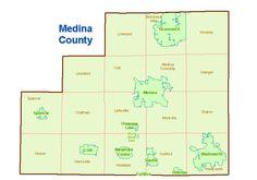 map of medina county ohio - Google Search