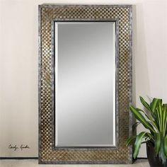 Uttermost Mondego Woven Nickel Mirror